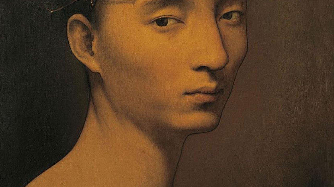 Součástí výstavy je dílo Nejistá melancholie, které roku 2009 namaloval čínský výtvarník Pcheng S'.