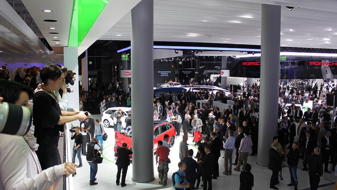 Stánek Škody na autosalonu ve Frankfurtu