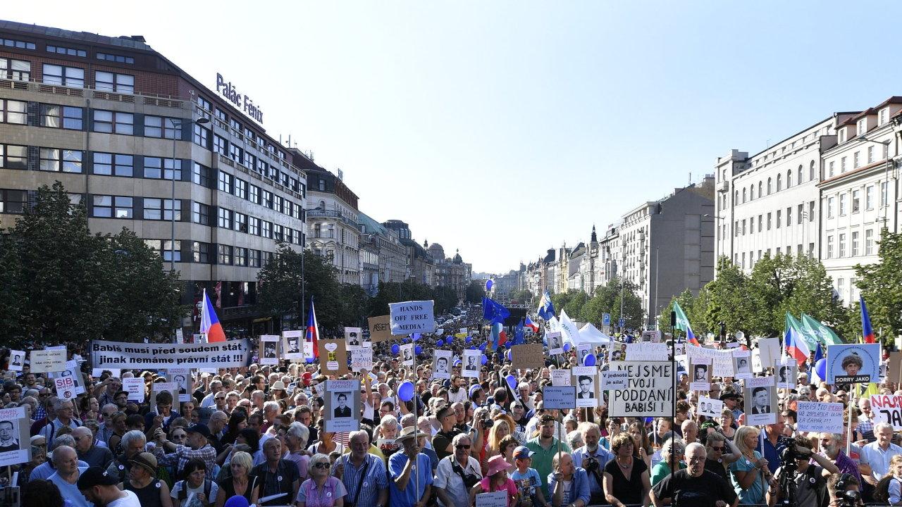 Iniciativa Milion chvilek pro demokracii uspořádala demonstraci s názvem Jednou provždy, namířenou proti možné vládě Andreje Babiše s podporou komunistů.