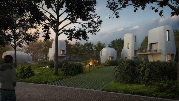 Plán domů vytištěných na 3D tiskárně.