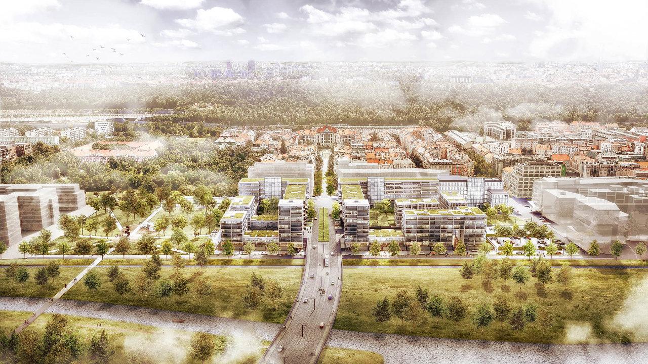 Rohan City vPraze 8 dle návrhu architektonického ateliéru Schindler Seko Architekti (Sekyra Group)