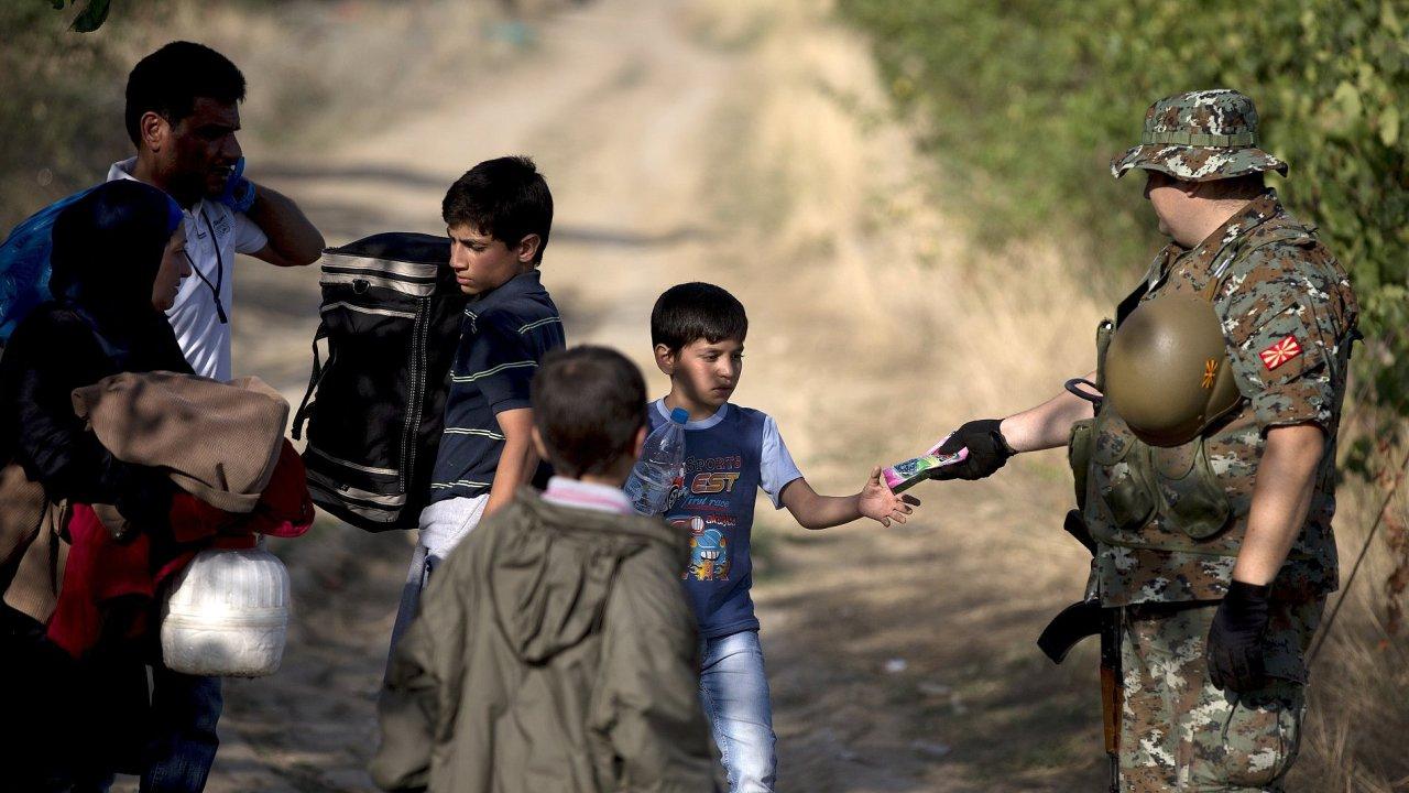 Makedonie, Řecko, migrace, uprchlíci, armáda