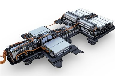 Schéma rozložení lithiových baterií v novém Volkswagenu e-Golf