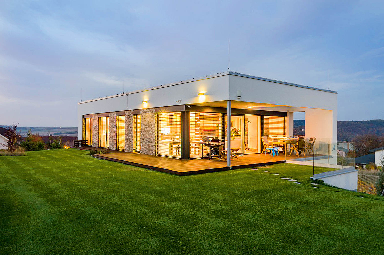 V oblibě jsou hlavně jednoduchá geometrická řešení stavby.