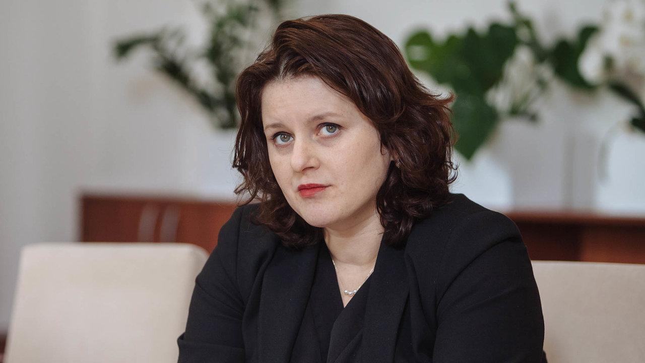 Ministryně práce asociálních věcí Jana Maláčová (ČSSD).
