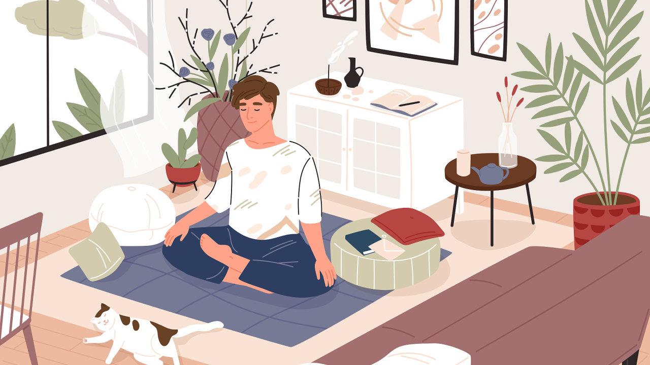 stres, jóga, meditace, práce, mindfulness