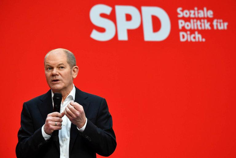 Olaf Scholz, kancléřský kandidát Sociálně demokratické strany Německa
