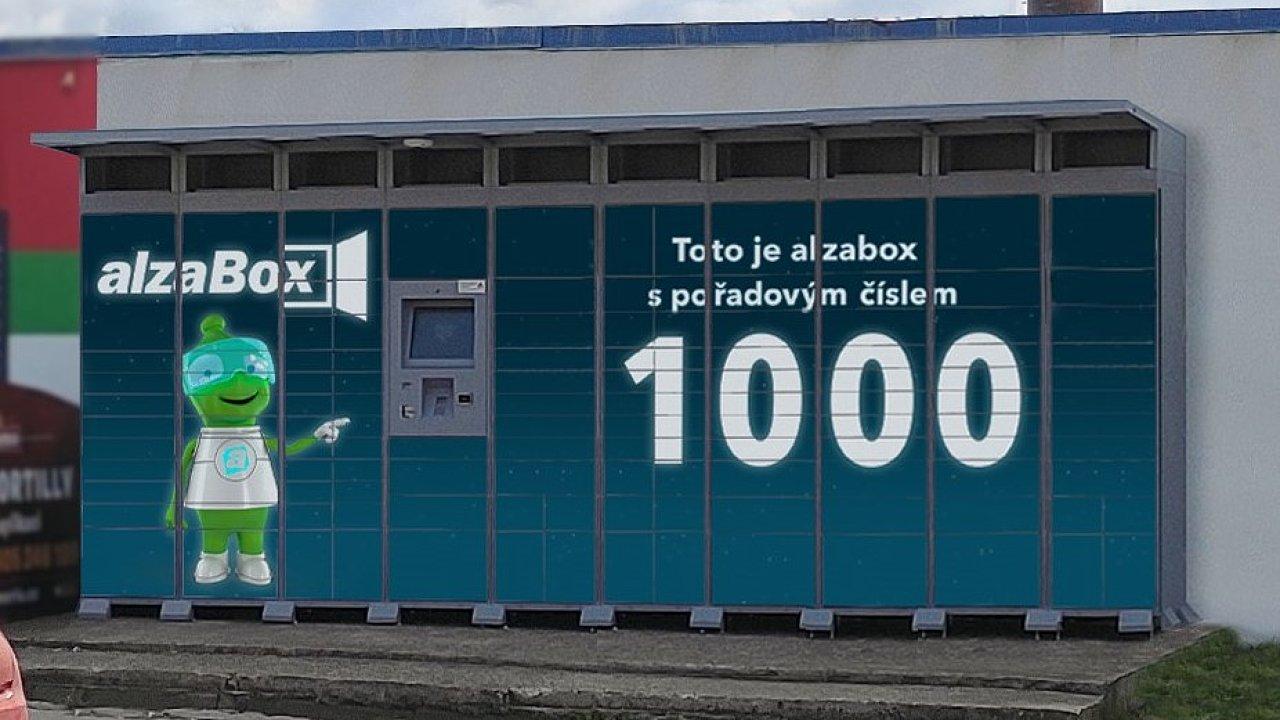 Jubilejní tisící AlzaBox instaloval e-shop na počátku května ve Strašnicích.