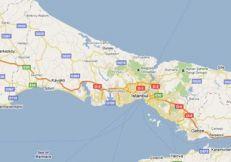 turecko kanal mapa