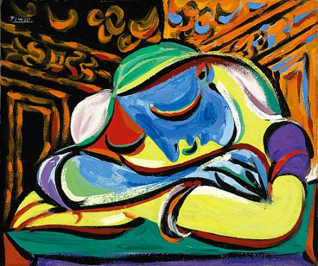 Picassův obraz Jeune fille endormie