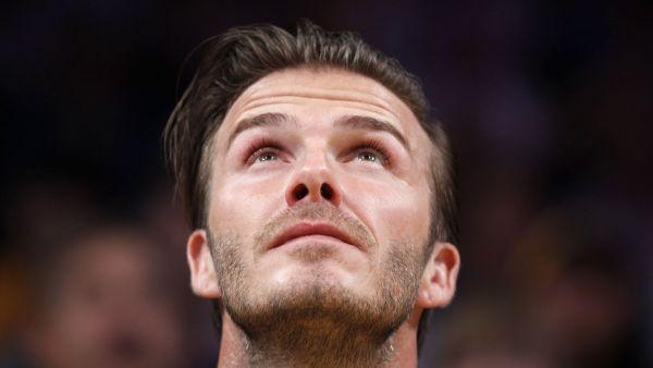 Anglický záložník David Beckham
