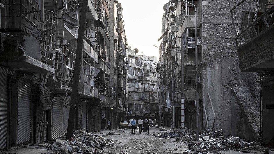 Válka v Sýrii - ilustrační foto
