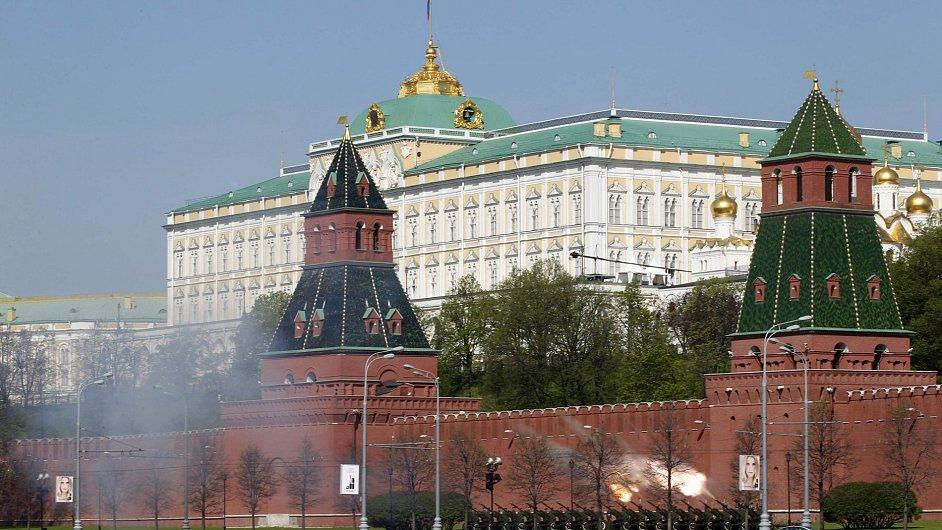 Cvičení ruské armády u Kremlu, ilustrační foto