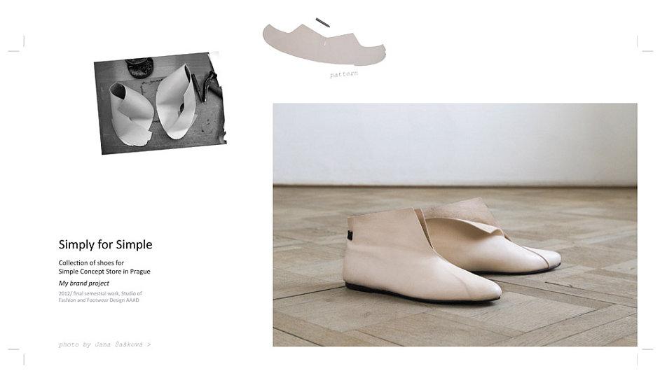 Národní cenu za design získala za svou kolekci obuvi Simply for Simple studentka VŠUP Eliška Kuchtová.