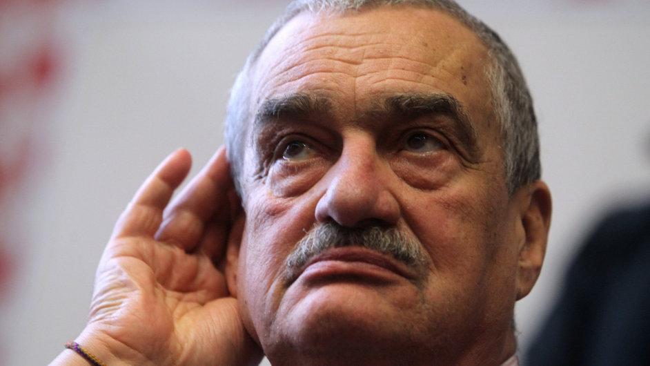 Prezidentský kandidát Karel Schwarzenberg 20. ledna v Olomouci