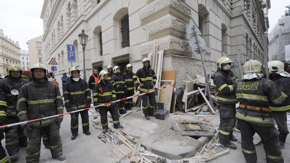 Výbuch v centru Prahy