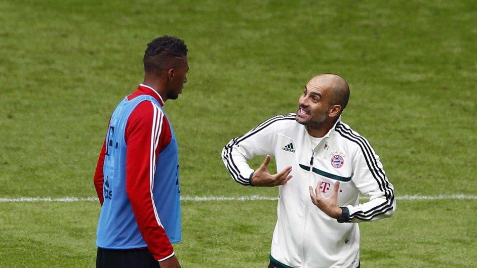 Guardiola na tréninku