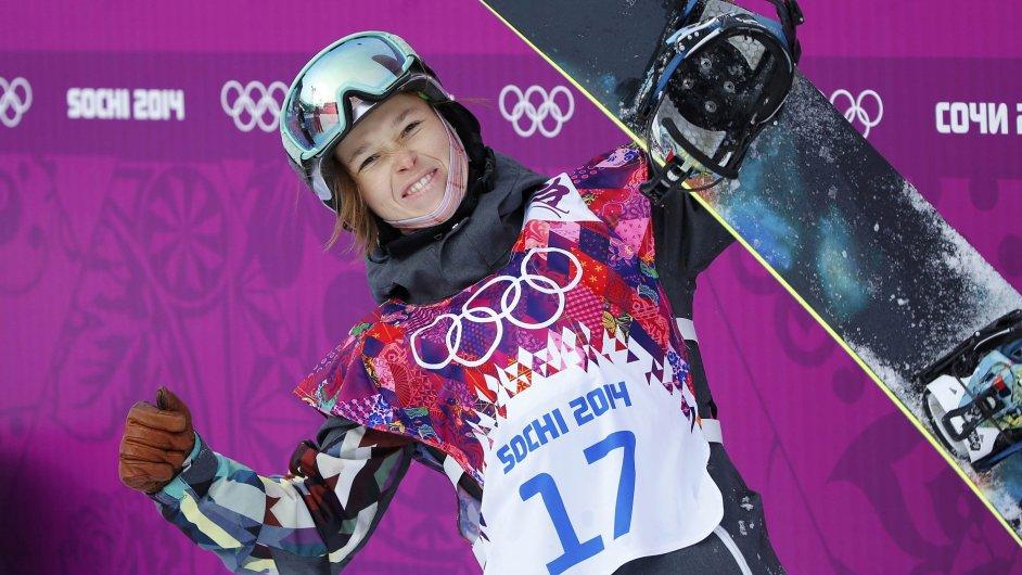 Šárka Pančochová v olympijském finále slopestylu