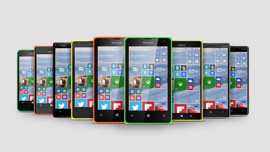 Windows 10 na telefonech Lumia