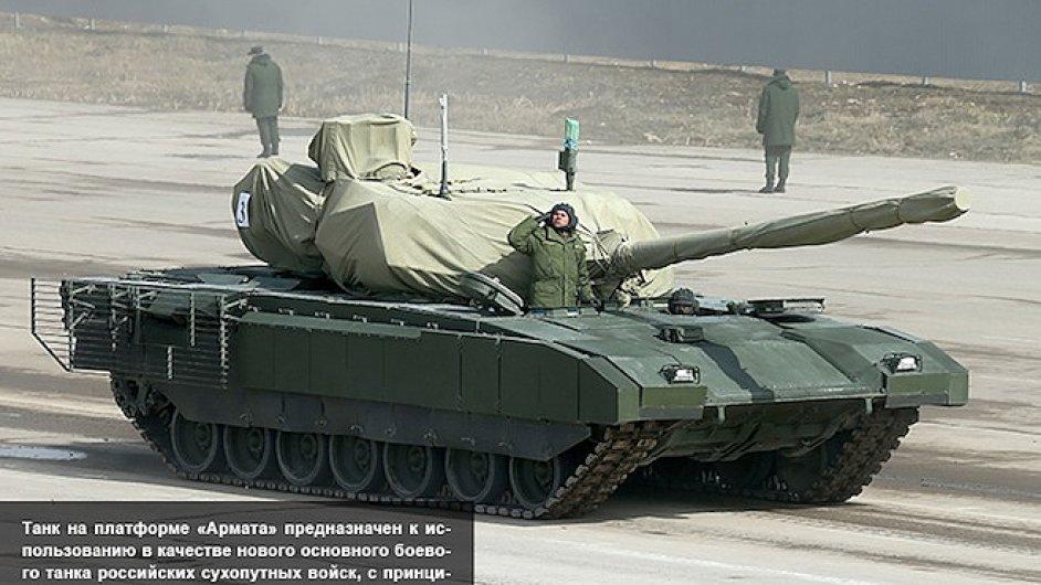 Ruské ministerstvo obrany poprvé zveřejnilo fotografii tanku T-14 Armata.