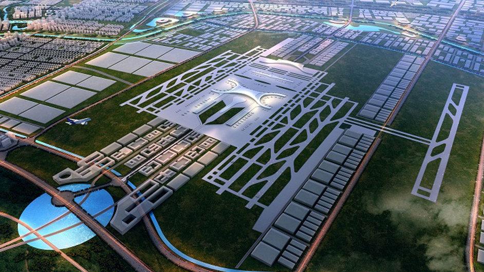 Vizualizace nového letiště v čínské metropoli Čeng-čou