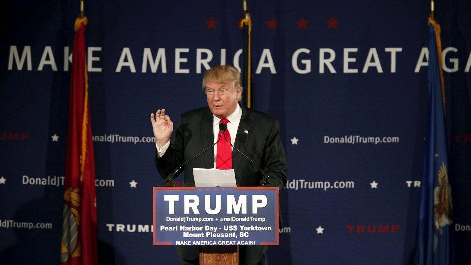 Volby v USA: Donald Trump při projevu v Jižní Karolíně