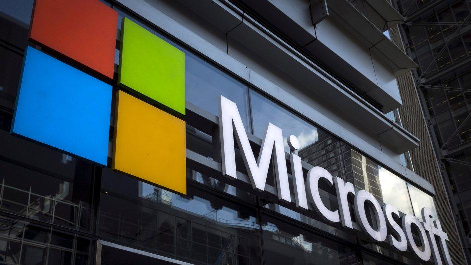 Microsoft logo ilustrační