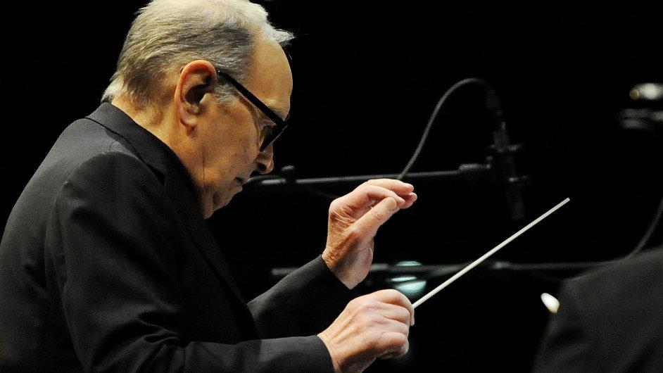 Snímek ze sobotního koncertu Ennia Morriconeho v pražské O2 areně.
