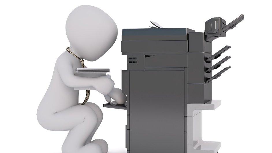 Multifunkční tiskové zařízení, kopírka, ilustrace
