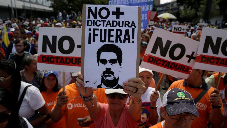 Venezuela, demonstrace, protest