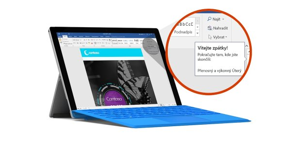 Microsoft Office na počítači Surface