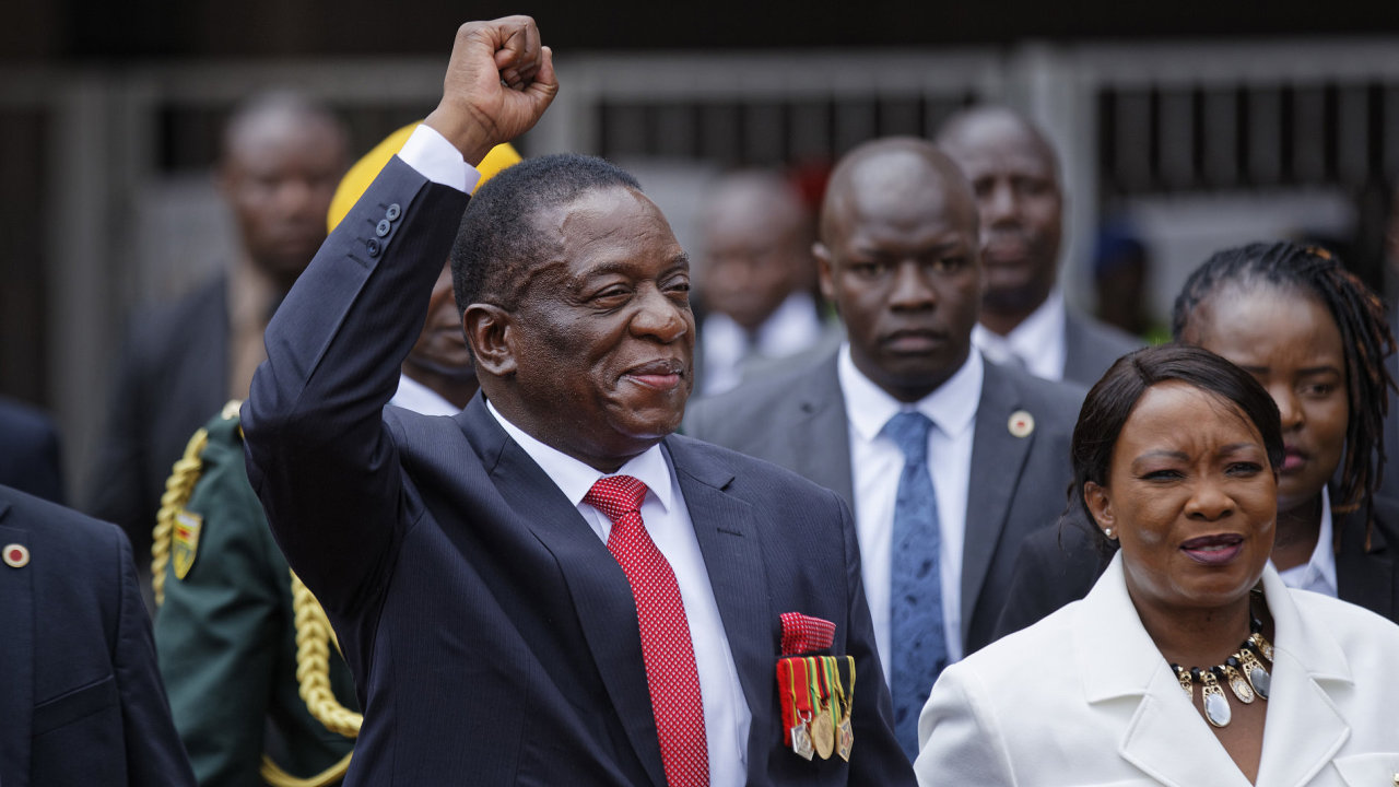 Emmerson Mnangagwa prezidentská přísaha