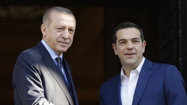 Erdogan s řeckým premiérem Alexisem Tsiprasem.