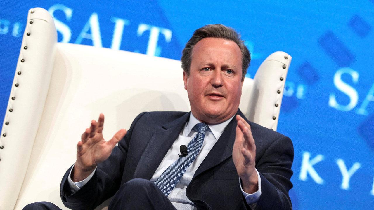 Bývalý britský premiér David Cameron.