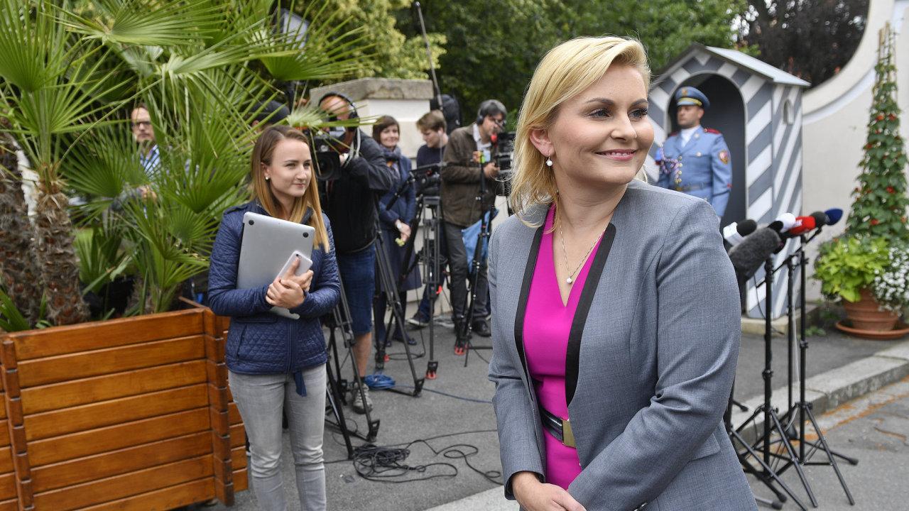 Kandidátka na ministryni ve vládě ANO a ČSSD TaťánaMalá se setkala 25. června v Lánech s prezidentemMilošem Zemanem.