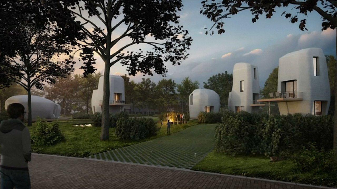 V Nizozemsku plánují první výstavbu domů vytištěných na 3D tiskárně