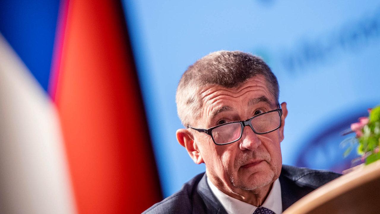 Premiér Andrej Babiš (ANO) 1. dubna 2019 v Hradci Králové na dvoudenní mezinárodní konferenci Internet ve státní správě a samosprávě (ISSS).