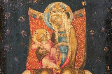 Trůnící Panna Marie s dítětem.