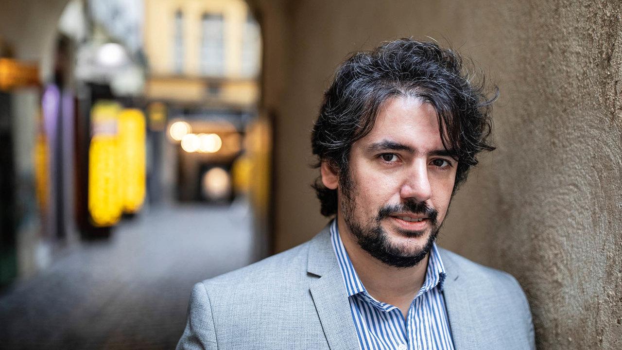 Argentinský spisovatel Juan Pablo Bertazza