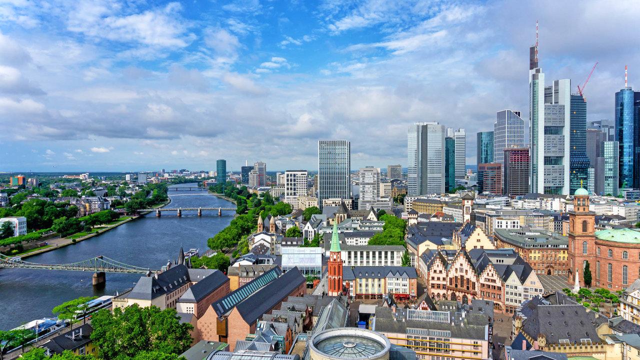 Finanční centrum EU: Stejně jako Evropská centrální banka sídlí iněmecká Bundesbanka veFrankfurtu nad Mohanem.