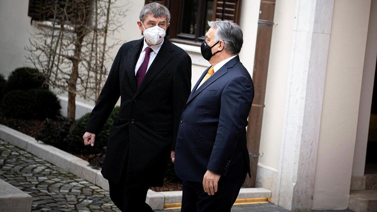 Viktor Orbán (napravo) s Andrejem Babišem.