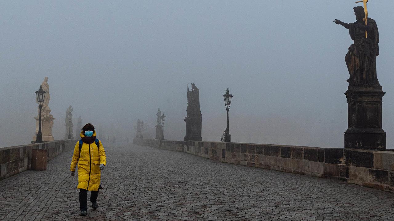 Praha v době pandemie.