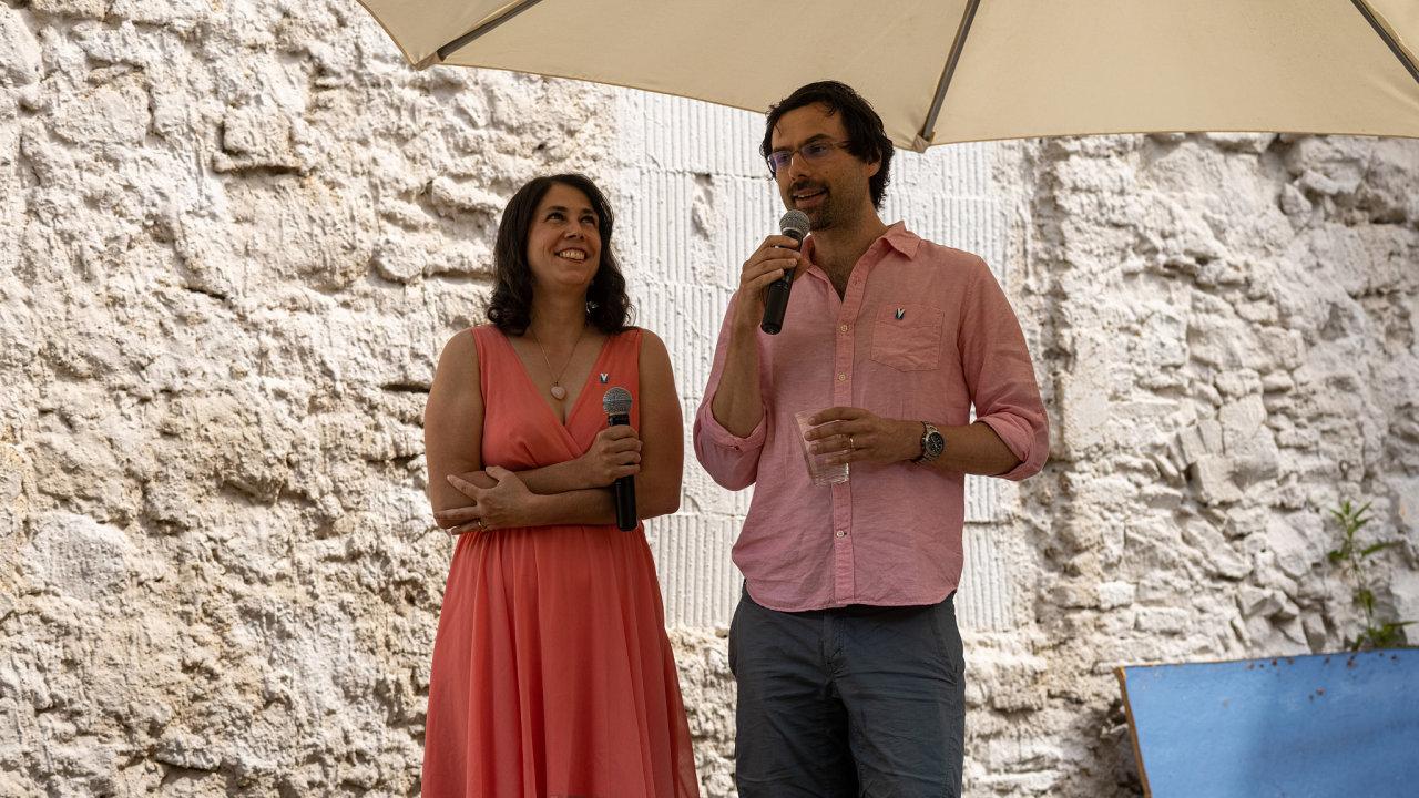 Ondřej a Katarína Vlčkovi veřejnost pozvali na představení projektu svého hospicu na pražské Cibulce.
