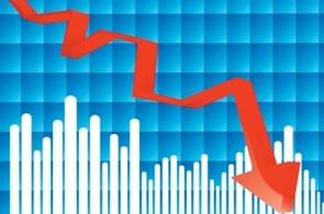 Pokles úrokových sazeb - ilustrační grafika