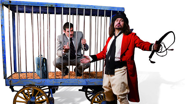 Bankéř za mřížemi. Ilustrační foto