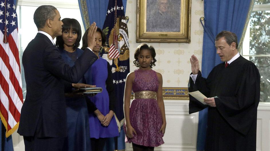 Barack Obama složil inaugurační slib pro své druhé prezidentské období