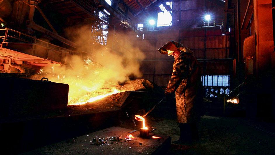 Hutní výroba v Česku meziročně poklesla o 10 %