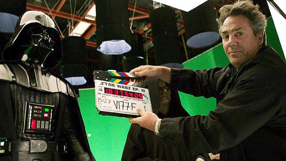 Rick McCallum při natáčení Star Wars Epizody III