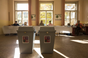 Volební místnost - Ilustrační foto.