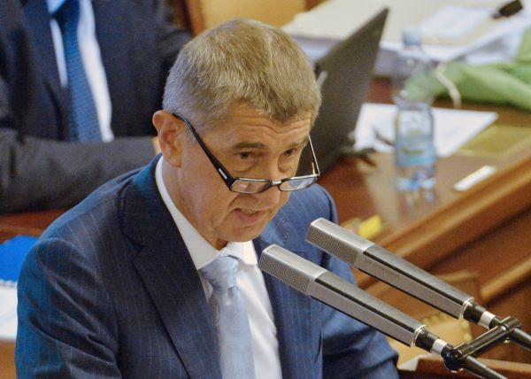 Ministr financí Andrej Babiš na jednání sněmovny.